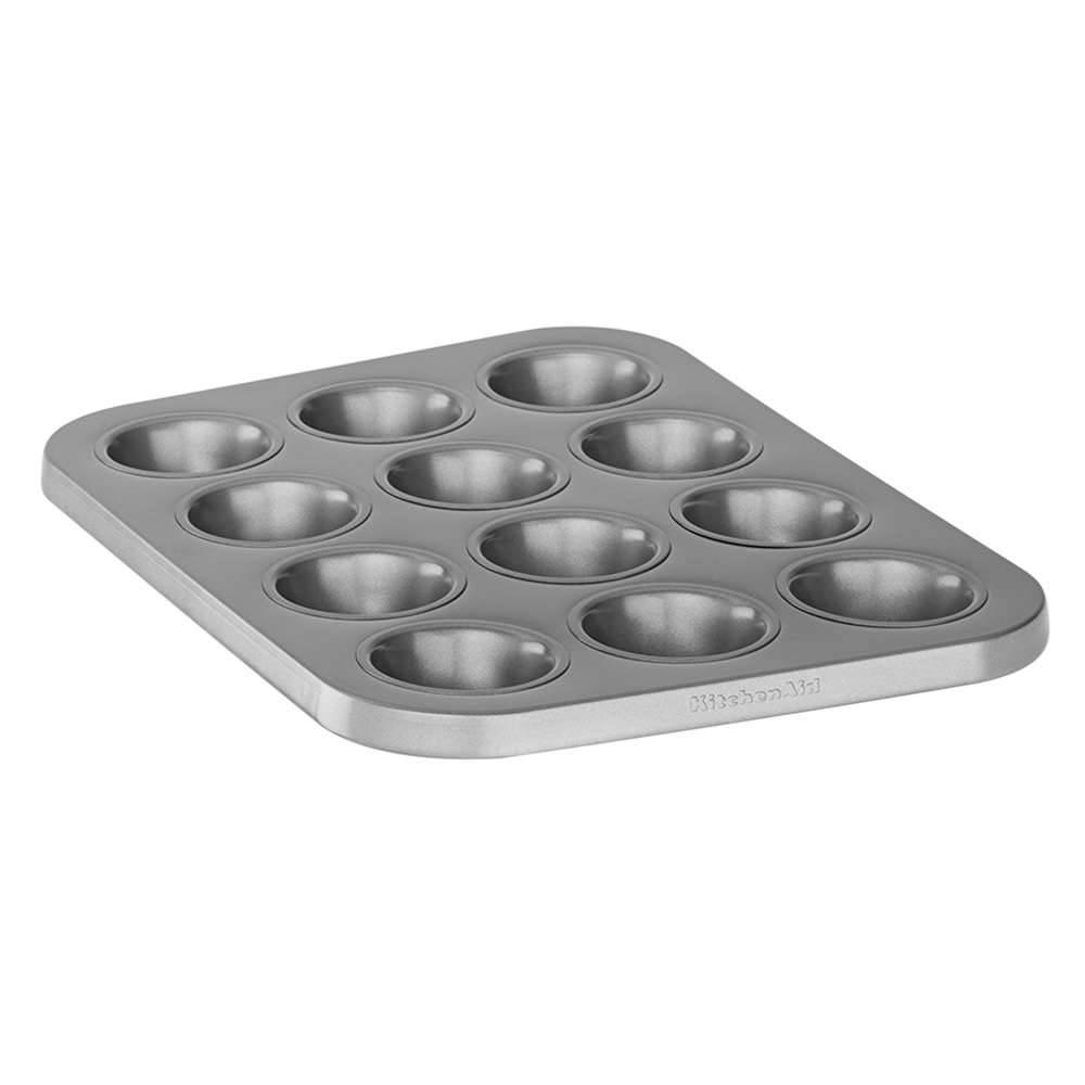 Forma para 12 Bolinhos em Aço Aluminizado KitchenAid Classic com Tampa - KII99AX - 40,6x30,2 cm