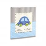 Álbum do Bebê Carrinho Azul - 120 Fotos 10x15 cm - com Caixa