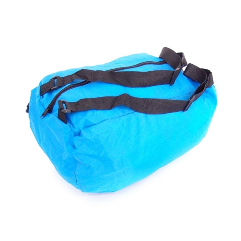 Mala Dobrável Colors Pequena - com Alças - Azul Turquesa em Nylon - 50x32 cm