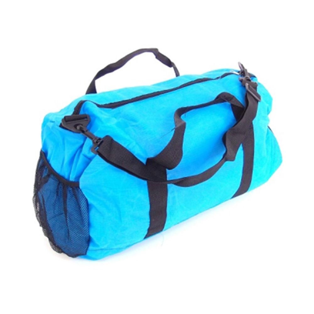 Mala Dobrável Colors - com Alças - Azul Turquesa em Nylon - 50x30 cm