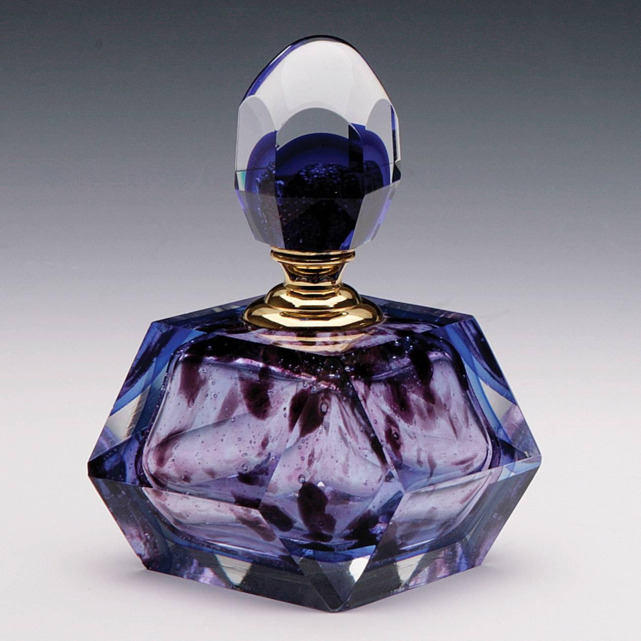 Perfumeiro Veneza Roxo em Vidro - Prestige - 12x9,5 cm