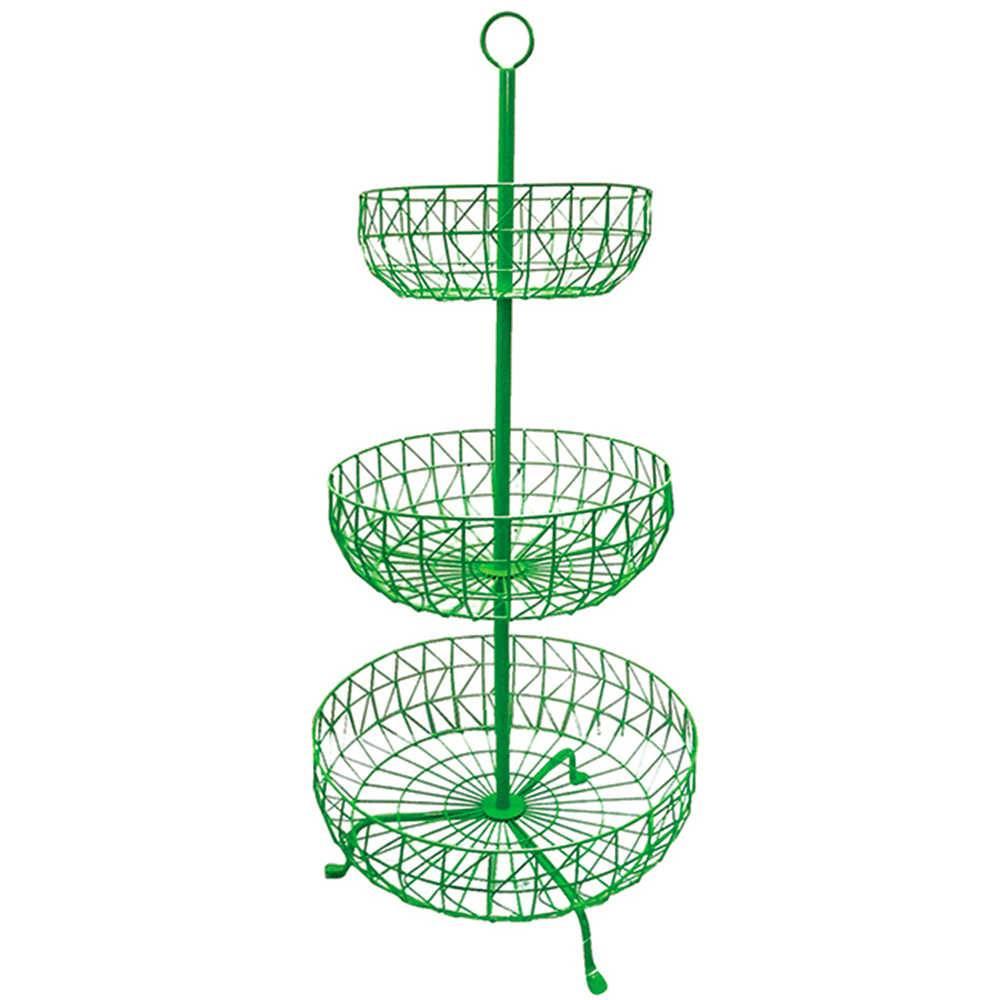 Fruteira 3 Andares Levels Fancy Laces Verde em Ferro - Urban - 91x43 cm