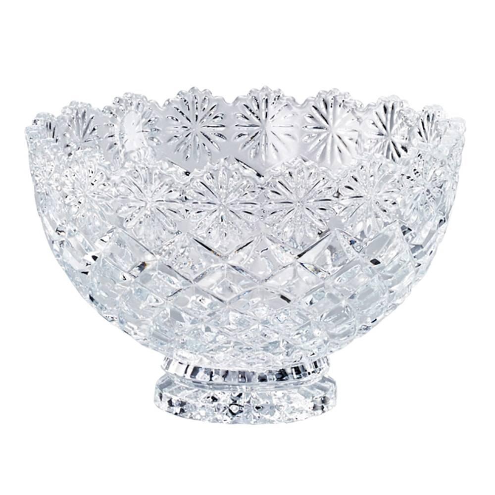 Fruteira Diamond Redondo em Cristal - Lyor Classic - 20x14 cm