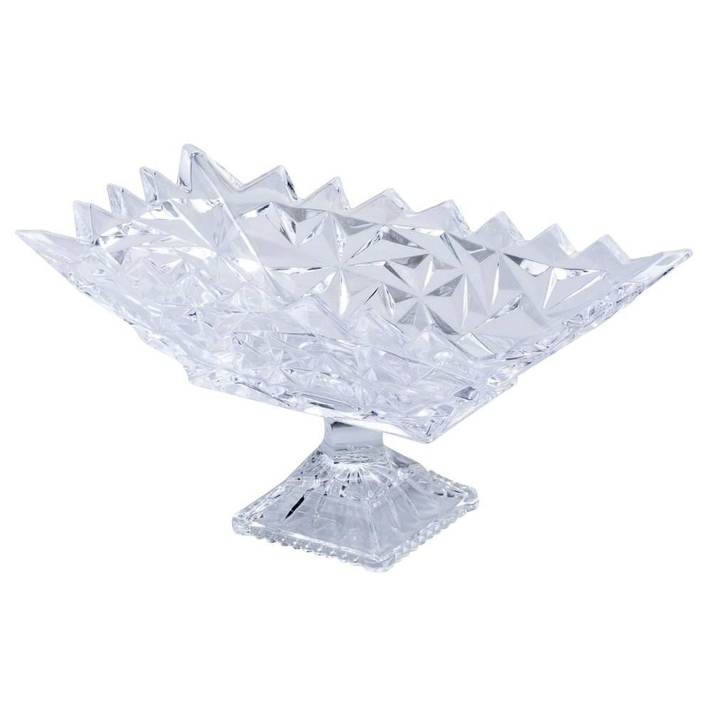 Fruteira Pedente Frozen Pedestal em Cristal - Lyor Classic - 37,5x20 cm