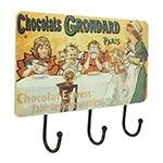 Gancheira Porta Chaves Chocolats 3 Ganchos Oldway