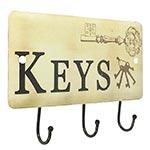 Gancheira Porta Chaves Keys 3 Ganchos Oldway