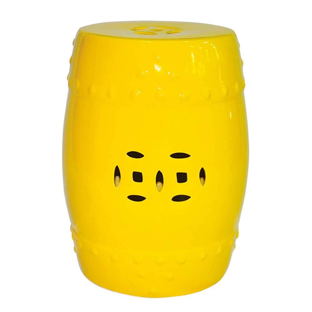 Garden Seat Basic Amarelo em Cerâmica - Urban - 46x33 cm