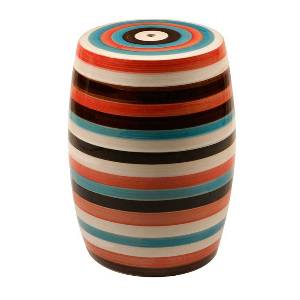 Garden Seat Lollipop Colorido em Porcelana - 45x33 cm