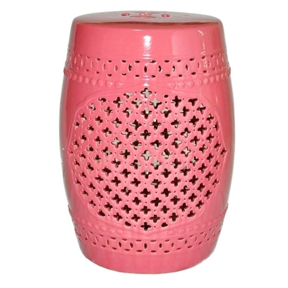 Garden Seat Marroquino Pink em Cerâmica - Urban - 46,3x32 cm