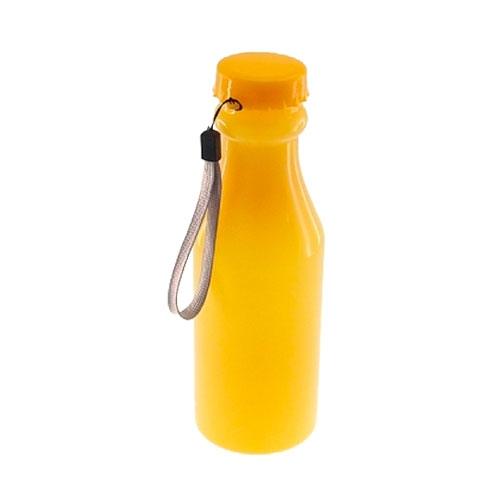 Garrafa Amarela com Tampa Giratória - 20x6 cm
