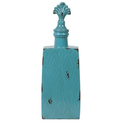 Garrafa Decorativa Blue em Metal - 41x14 cm