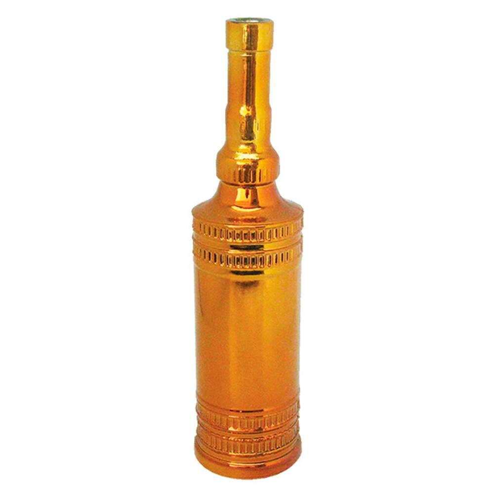 Garrafa Decorativa Indian Bottles Dourada Média em Vidro - Urban - 31x7,5 cm