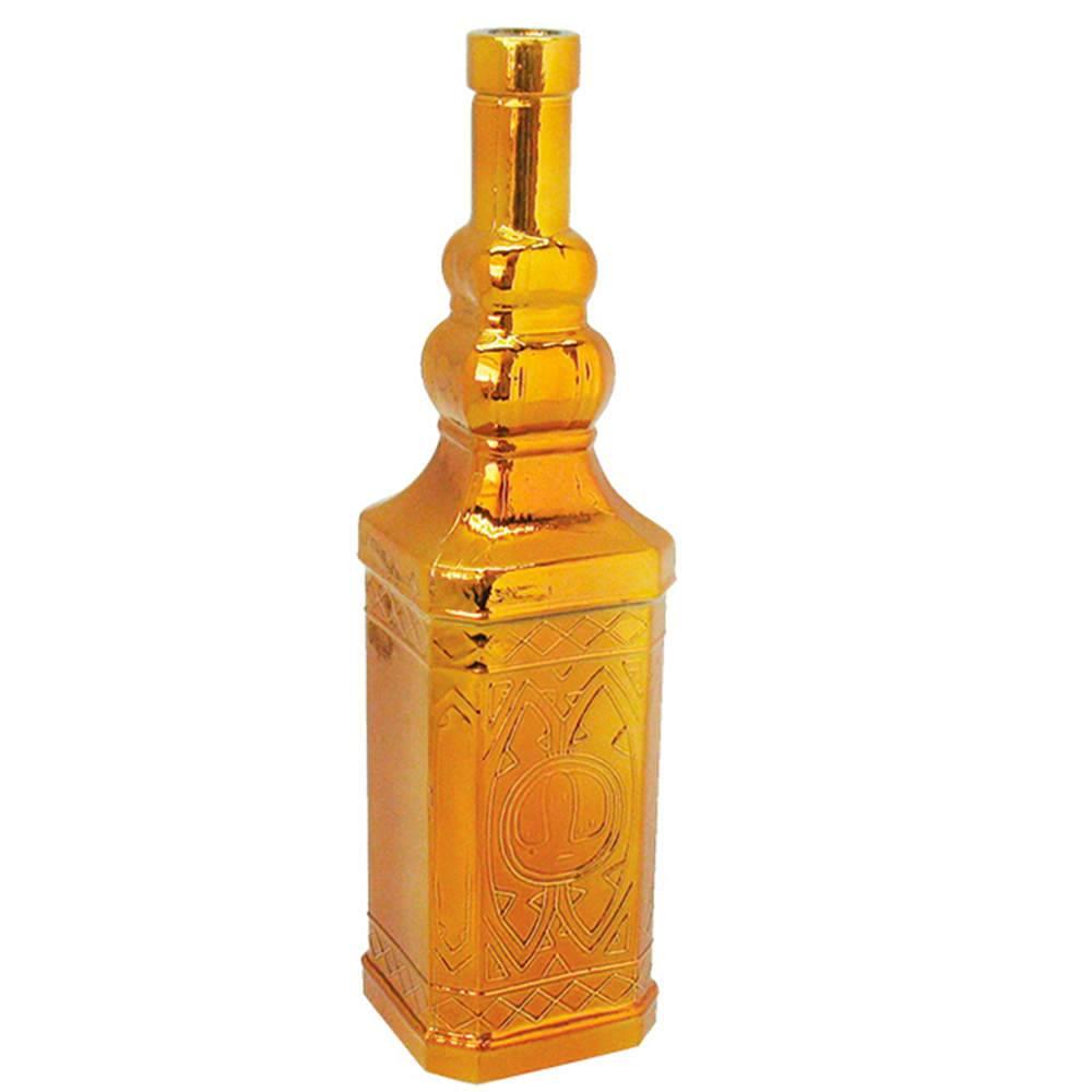 Garrafa Decorativa Indian Bottles Dourada Pequena em Vidro - Urban - 30x8 cm