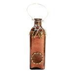Garrafa Decorativa Pendente Cooper em Vidro - 37x8 cm