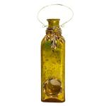 Garrafa Decorativa Pendente Golden em Vidro - 36x8 cm