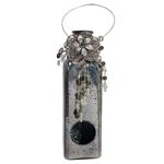 Garrafa Decorativa Pendente Silver em Vidro - 37x8 cm