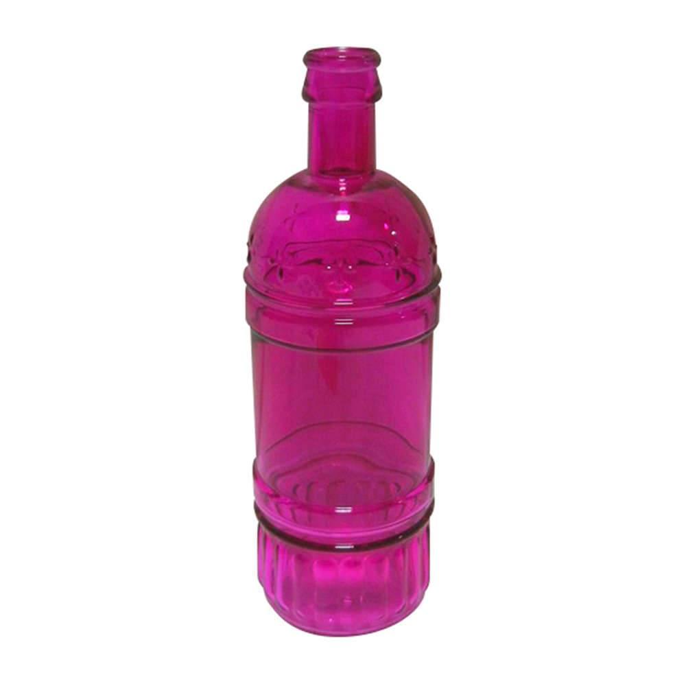 Garrafa Decorativa Wine Pink em Vidro - Urban - 25x8,5 cm