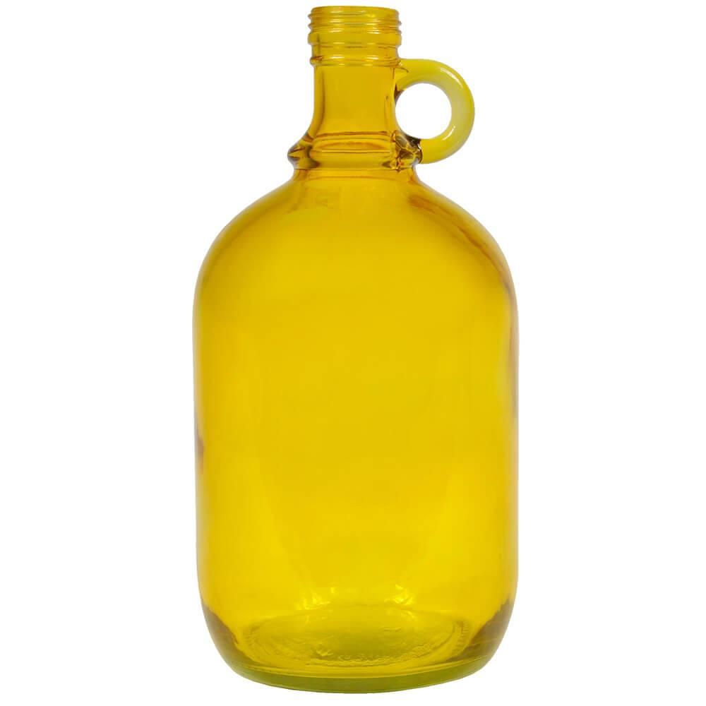 Garrafa Decorativa Wine Port Bottle Amarelo em Vidro - Urban - 27x13 cm