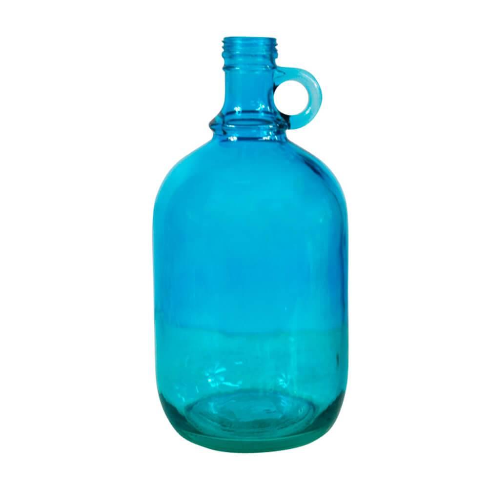 Garrafa Decorativa Wine Port Bottle Azul em Vidro - Urban - 27x13 cm