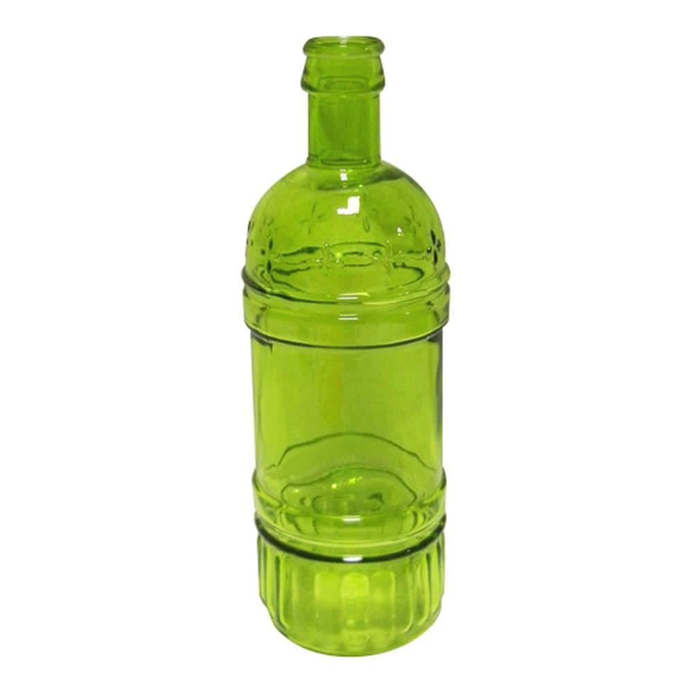 Garrafa Decorativa Wine Verde em Vidro - Urban - 25x8,5 cm