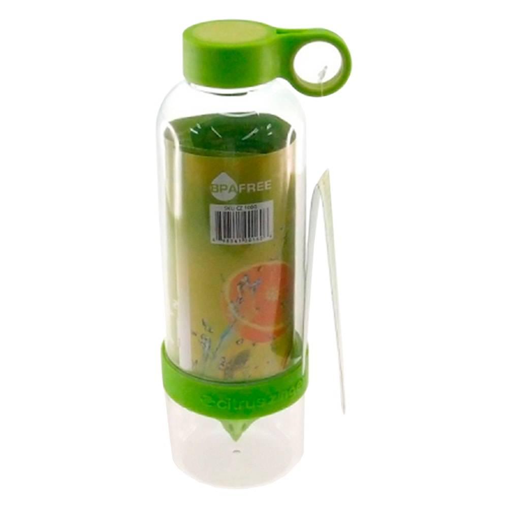 Garrafa Infusora Verde - 800 ml - em Acrílico - 25x7 cm