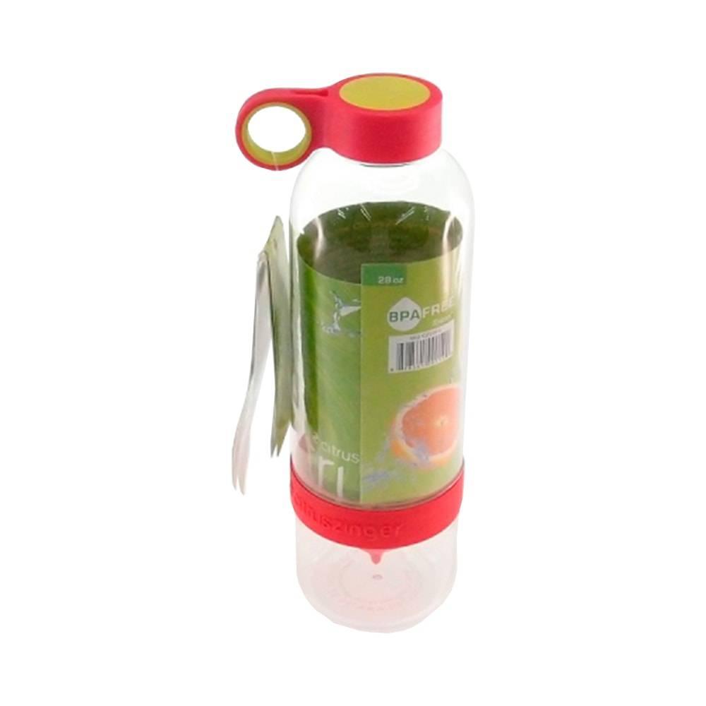 Garrafa Infusora Vermelha - 800 ml - em Acrílico - 25x7 cm