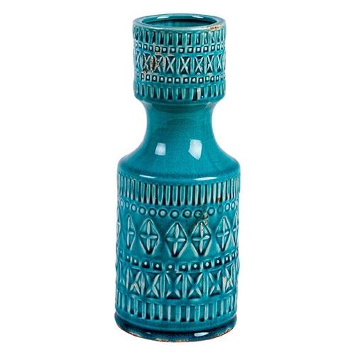 Garrafa Rústica Blue em Cerâmica - 20x12 cm
