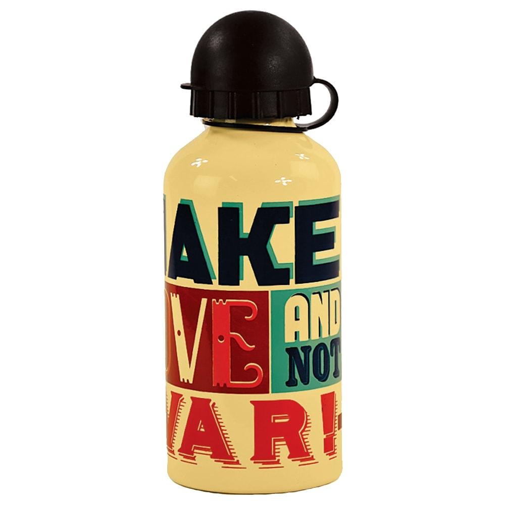 Garrafa Squeeze Make Love - Carpe Diem - Bege em Alumínio - 18x7 cm
