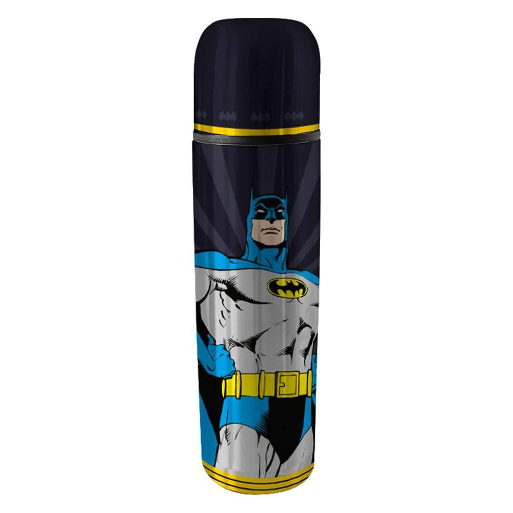 Garrafa Térmica DC Comics Batman Preto 500 ml em Aço Inox - Urban - 25,5x6,8 cm