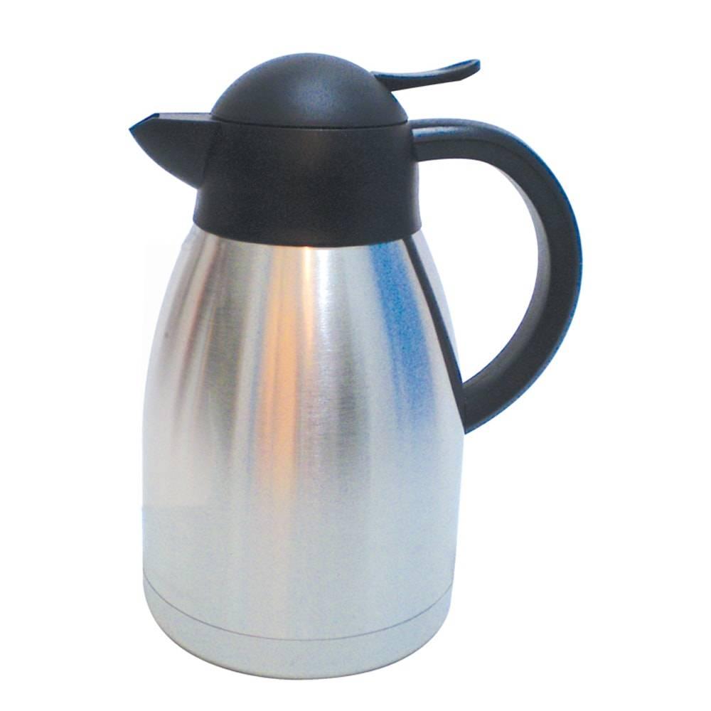 Garrafa Térmica de Parede Dupla Prata/Preto - 1,2 Litros - em Aço Inox - Bon Gourmet