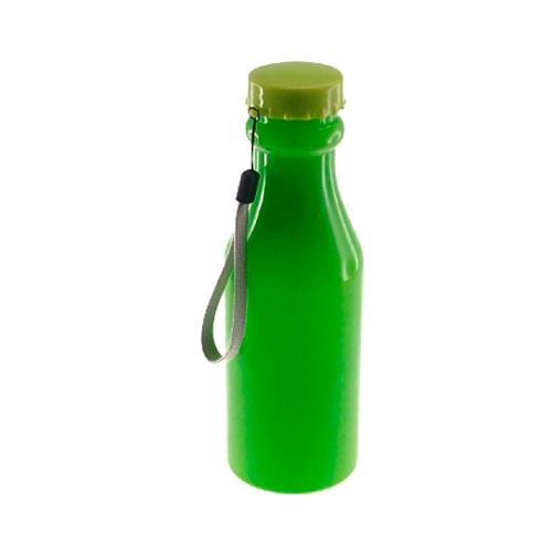 Garrafa Verde com Tampa Giratória - 20x6 cm