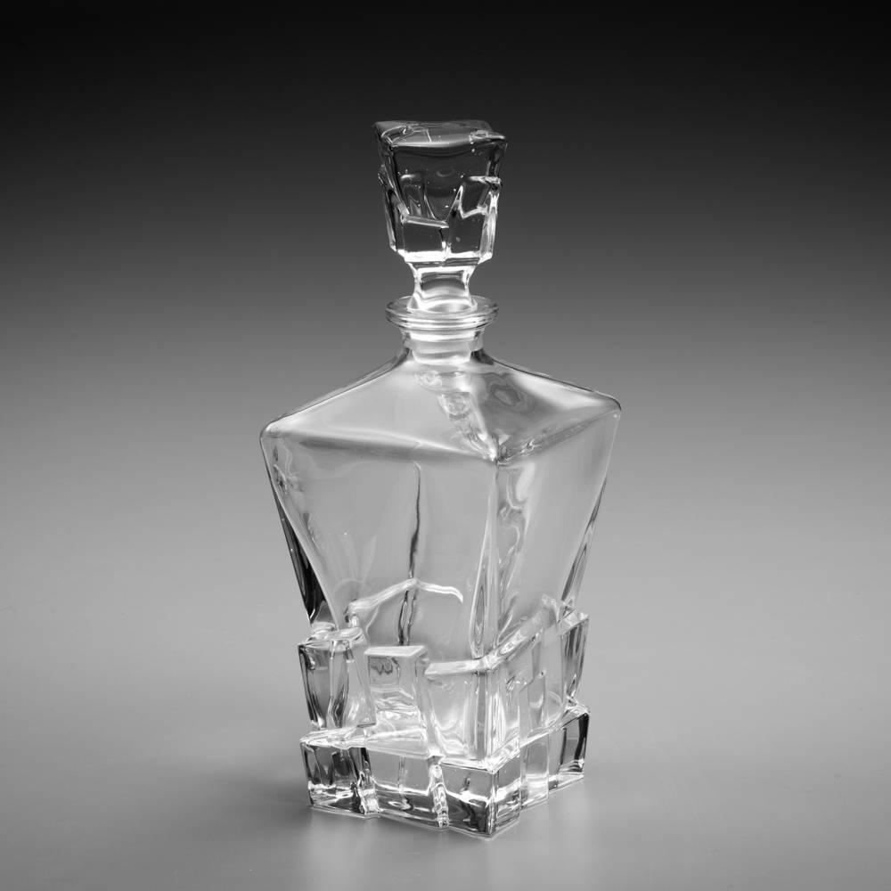 Garrafa Bari - para Whisky - em Cristal - 680 ml - 29x11 cm