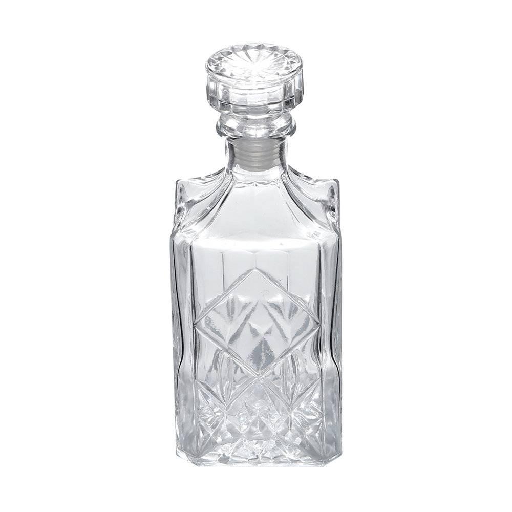 Garrafa para Whisky Roy Transparente - 700 ml - em Vidro - Bon Gourmet - 22x9 cm