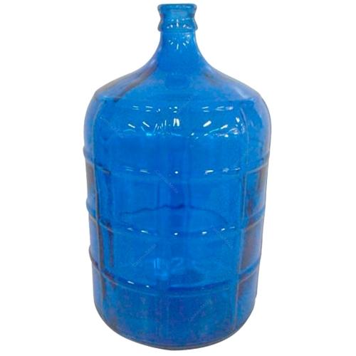 Garrafão Decorativo Azul Grande em Vidro - 50x26 cm