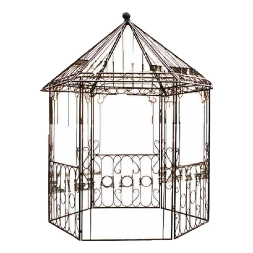 Gazebo Vazado Decorativo para Jardim em Ferro - 300x196 cm