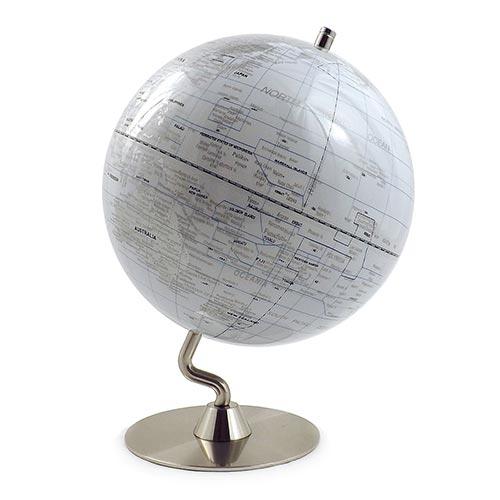 Globo Branco Base Metal Curva Médio Fullway - 32x25 cm