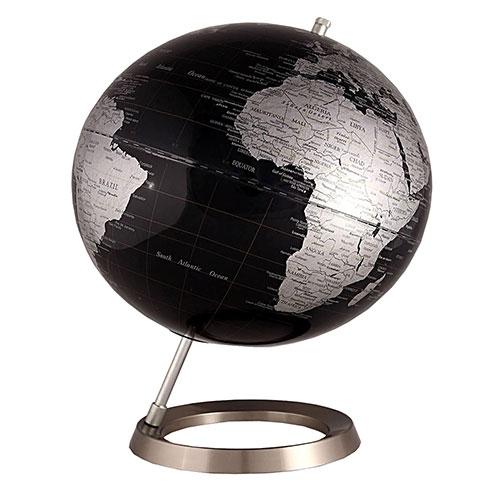 Globo Design Preto Fullway - Base de Metal - 30x42 cm