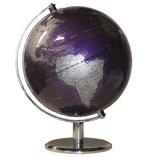 Globo Design Purple Base Cromada Fullway - 27x20 cm