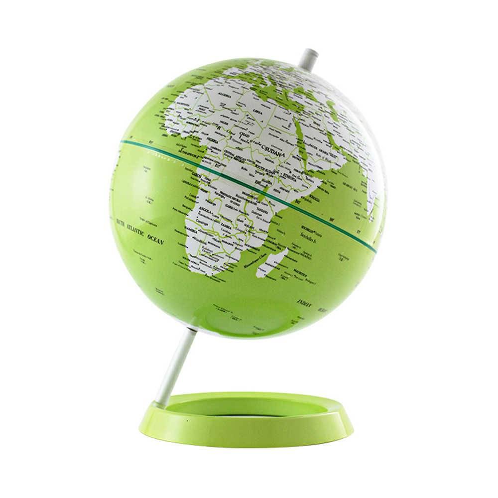 Globo Grande Mapa Mundi Verde em Polipropileno - Urban - 34x25 cm