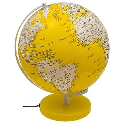 Globo Iluminado Amarelo Fullway - 40x31 cm