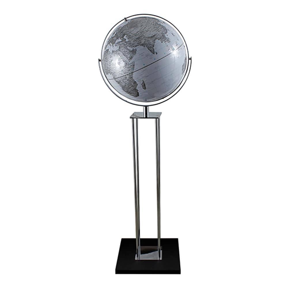 Globo Luminária Pedestal Branco Fullway em Aço - 140x43 cm