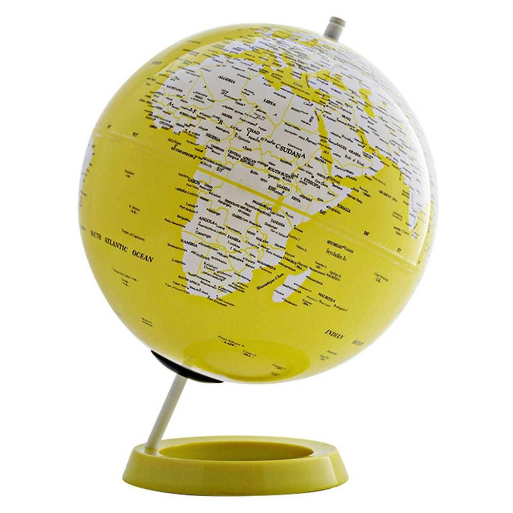 Globo Mapa Mundi Amarelo em Polipropileno - Urban - 34x25 cm