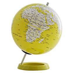 Globo Mapa Mundi Amarelo em Polipropileno - Urban - 34x25 cm R$ 159,98 R$ 109,98 2x de R$ 54,99 sem juros