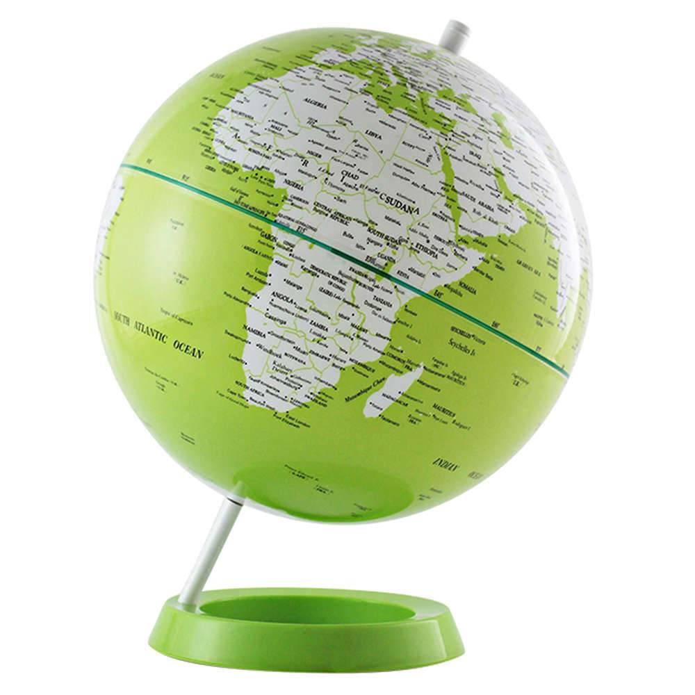 Globo Mapa Mundi Verde em Polipropileno - Urban - 30x20 cm