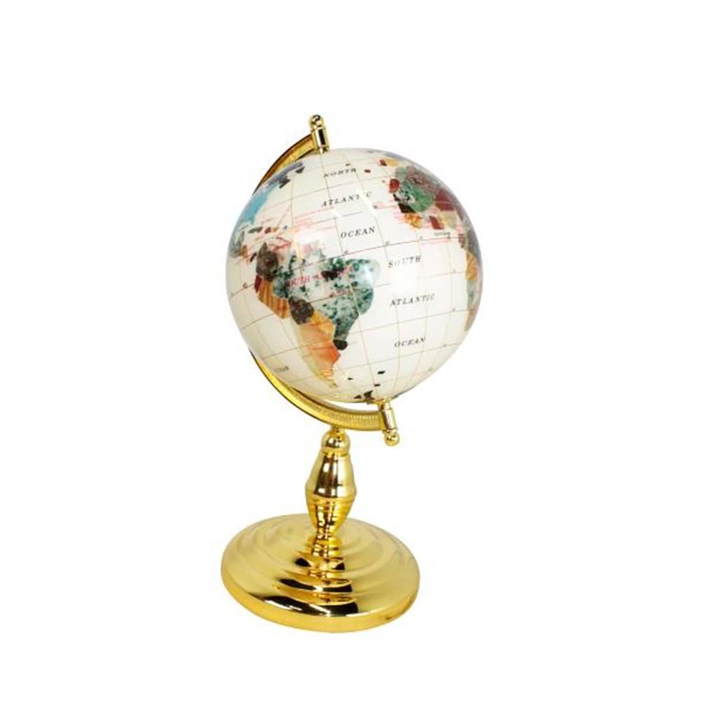Globo de Pedras Dourado Mini Goldway - 35x21 cm