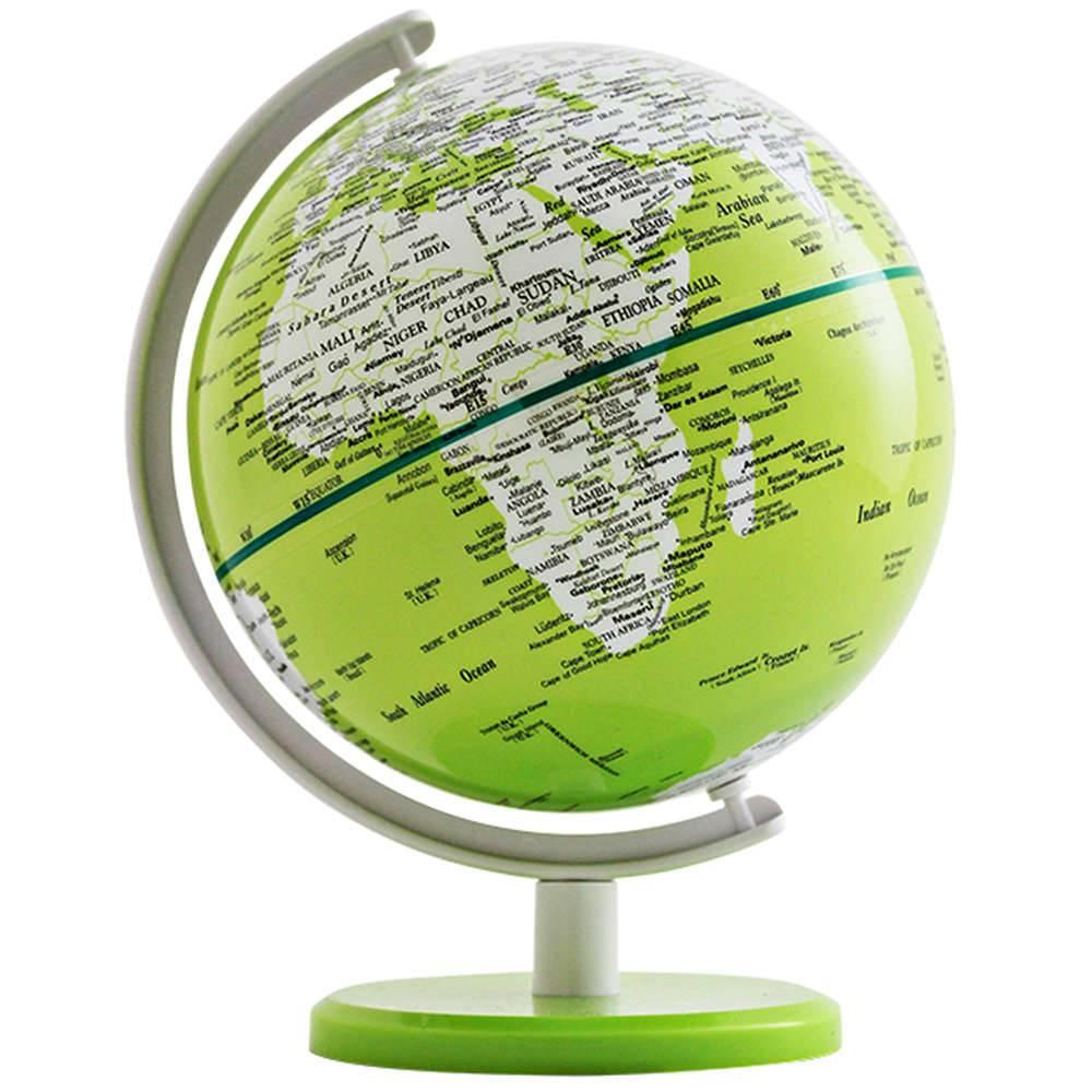 Globo Pequeno Mapa Mundi Verde em Polipropileno - Urban - 18x13 cm