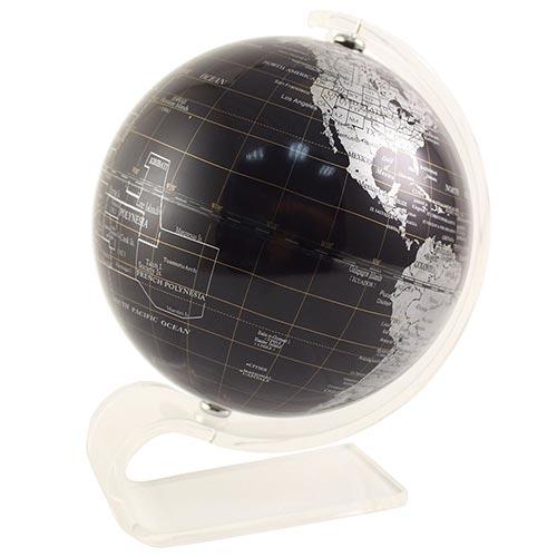Globo Preto Base Acrílico Fullway - 17x14 cm