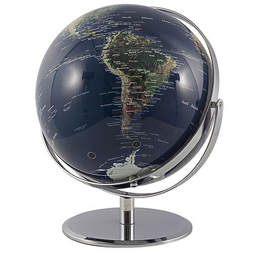 Globo Real Base Circular Rotação Dupla Fullway - 38x27 cm