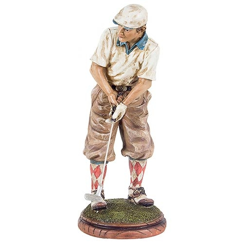 Golfista Camisa Branca Fullway - 29x12x12cm