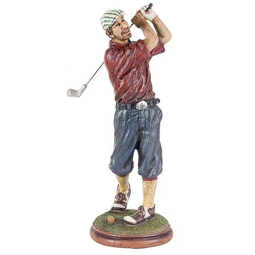 Golfista Camisa Vermelha Fullway - 33x15x12cm